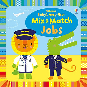 Sách Usborne Baby's very first Mix & Match Playbook Jobs