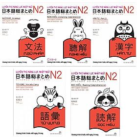 Combo Sách Học Tiếng Nhật Dành Cho Người Việt: SOMATOME Luyện Thi Năng Lực Nhật Ngữ N2 - Kèm Theo Chú Thích Anh Việt (Trọn Bộ 5 Cuốn Sách Nâng Cao Trình Độ Tiếng Nhật Hiệu Qủa / Tặng Kèm Bookmark Happy Life)