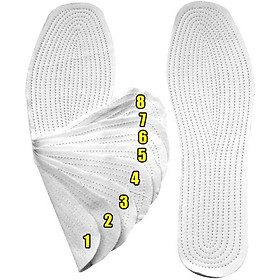 Combo 10 cặp lót giày êm chân size nam - Trắng