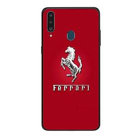 Ốp lưng dành cho điện thoại Samsung Galaxy A20S in họa tiết Logo F E R R A R I