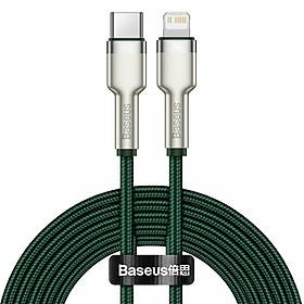 Dây sạc Baseus IP12 20W, Cáp sạc Baseus cho IP12 20W Type C to IP, Cáp sạc nhanh Baseus Metal Cho iPhone 12 Mini Pro Max PD 20W - Hàng nhập khẩu