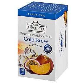 Trà Pha Lạnh AHMAD hương Đào và Chanh Dây hộp 20 gói x 2,1 g (gói thiếc)