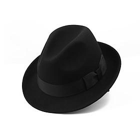 Mũ phớt nam len lông cừu cao cấp vành 4.5cm MP017 - Tặng đế giữ form mũ