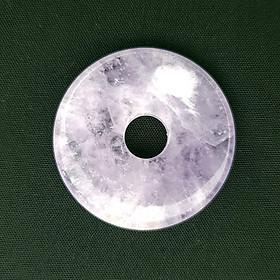 Mặt Dây Chuyền, Vòng Cổ, Vòng Tay Hình Đồng Điếu Đá Thạch Anh Tím - Mx - Hợp Mệnh Hoả, Thổ