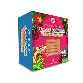 Sách - Boxset Cùng Bé Khám Phá Thế Giới Xung Quanh bìa Hồng - Song Ngữ Anh-Việt (Bộ 5 Cuốn)