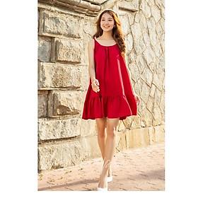 Đầm xoè hai dây The Maple Đỏ