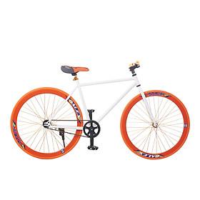 Xe Đạp Fixed Gear Single Sportslink - Trắng Phối Cam