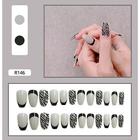 Bộ 24 móng tay giả nail thời trang như hình (R-146)