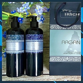 Bộ dầu gội xả Hischer Argan Oil for Dry & Demaged hair shampoo & Conditioner siêu mềm mượt cho tóc khô hư tổn 500ml