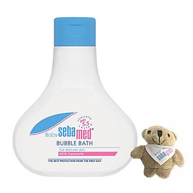 Sữa Tắm Tạo Bọt Dịu Nhẹ Cho Bé Sebamed Baby Bubble Bath pH 5.5 SBB01B (200ml) - Tặng Gấu Bông Treo Chìa Khoá