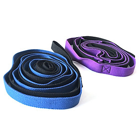Yoga Daisy Chains Multi-loop Yoga Strap Nonelastic Stretching Band for Pilates Dance Therapy Gymnastics-5