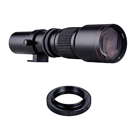 500mm F/8.0-32 Multi Coated Super Telephoto Lens Manual Zoom + T-Mount to F-Mount Adapter Ring Kit Replacement for Nikon
