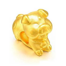 Charm Vàng 24K 12 Con giáp - Hợi - Ancarat - Tặng vòng tay Handmade đi kèm