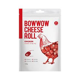 Bánh thưởng cho chó - Phô mai cuộn thịt gà Cheese Roll Chicken Bowow