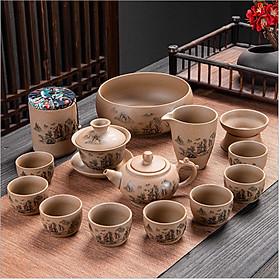 Bộ cốc chén pha trà đạo, bộ ấm pha trà sứ cao cấp, đẳng cấp dùng trà