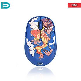 Chuột Không Dây Forter E650 Silent Mouse Họa Tiết Kute - Hàng Chính Hãng