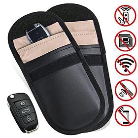 2Pcs Car Key Signal Blocker Case Bag Keyless Entry Fob Guard Signal Blocking Anti-radiation Pouch