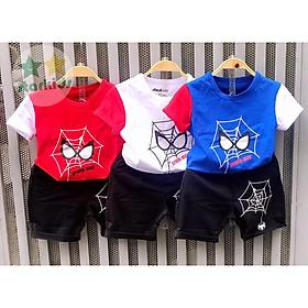 SIÊU RẺ GIÁ TẬN XƯỞNG bộ đồ quần áo cho trẻ em có 3 màu khác nhau in hình MẮT SIÊU NHỀN NHỆN-cho bé trai từ 8kg đến 25kg