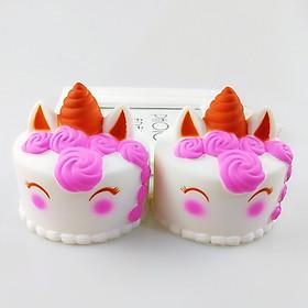 Set 2 Squishy bánh gato unicorn, squishy chậm tăng mùi thơm dịu nhẹ, đồ chơi cho bé trai và bé gái