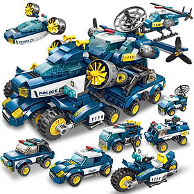 Đồ chơi lắp ráp trẻ em bằng nhựa ABS an toàn Siêu xe Police với hơn 600 chi tiết