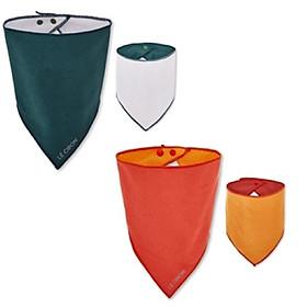 Set 2 yến tam giác (mỗi yếm 2 mặt, mỗi mặt 1 màu) - Thương hiệu Lecoon