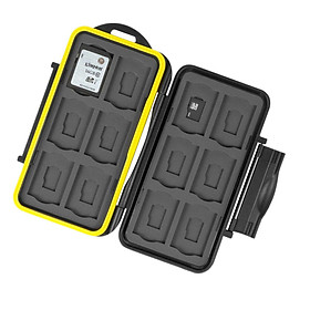 Water Resistant Memory Card Case Holder Storage Fits 12 SD+12 Micro SD TF Cards