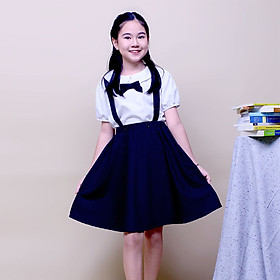Chân váy yếm cho học sinh có túi cho bé gái đi học, đồng phục học sinh nữ cấp 1 và cấp 2, vải cotton GDP008 JADINY