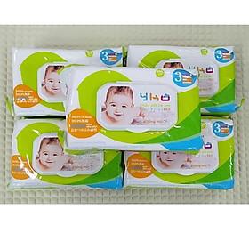Combo 5 Khăn giấy ướt YKO không mùi 100 tờ