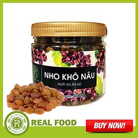 Hũ Nho Khô Nâu REAL FOOD STORE (400g)