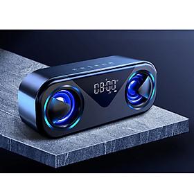 Loa Bluetooth không dây di động MC H9 - Màn hình LED, âm thanh nổi, Hỗ trợ Thẻ TF AUX USB Báo thức thông minh, đèn ngủ sang chảnh