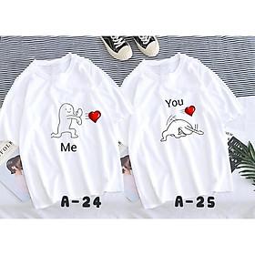 Áo Thun cặp Nam-Nữ in hình NÉ THÍNH cực dễ thương , thích hợp cho các cặp đôi trẻ trung, năng động, cho các nhóm bạn đi đêm, đi phượt, bão, nhìn đã mắt, bao ngầu, bao chất!