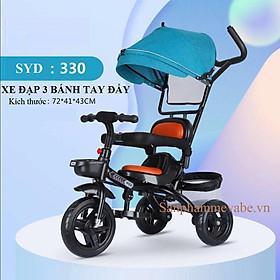 Xe đạp 3 bánh cap cấp yên mềm có mái che SYD-330