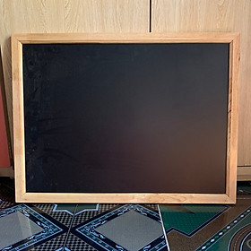 bảng menu đen khung gỗ 60cm x 80cm
