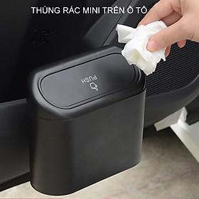 Thùng rác mini trên xe ô tô, loại nhỏ gắn cửa xe, gắn ghế sau tiện dụng