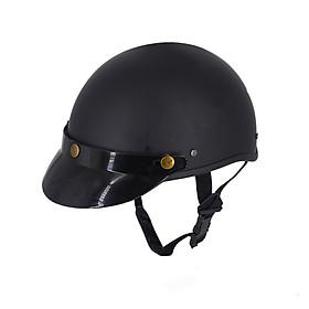 Mũ Bảo Hiểm Nửa Đầu Đen Trơn,Nón Bảo Hiểm Đi Phượt