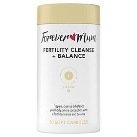 Forever Mum Fertility Cleanse + Balance 30 Soft Capsules