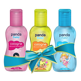 Combo 3 Chai Nước hoa cho bé Panda Baby Cologne 50ml - Sweet Floral 50ml, Mother's Love 50ml và Fairy's Touch 50ml