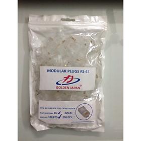 Đầu bấm mạng Golden Japan túi 100 hạt chân đồng nguyên chất - Hàng nhập khẩu