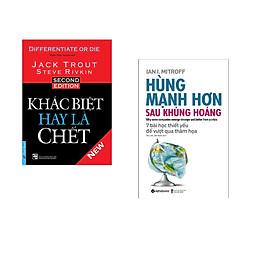 Combo 2 cuốn sách: Khác Biệt Hay Là Chết + Hùng mạnh hơn sau khủng hoảng
