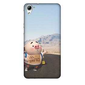 Hình đại diện sản phẩm Ốp lưng nhựa cứng nhám dành cho HTC Desire 826 in hình Heo Con Qua Giang