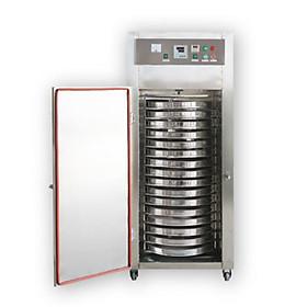 Máy sấy công nghiệp khay xoay tròn loại 16 khay GEC16. Hàng chính hãng SGE Thailand. Máy dùng sấy thực phẩm số lượng lớn, phù hợp hộ kinh doanh, nhà hàng, sản xuất công nghiệp