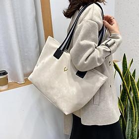 Túi tote vải canvas nhung đeo chéo phong cách Hàn Quốc