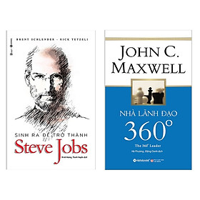 Combo Sách Dành Cho Người Lãnh Đạo: Sinh Ra Để Trở Thành Steve Jobs + Nhà Lãnh Đạo 360° - ( Combo 2 Cuốn Sách Kinh Tế / Top Sách Bán Chạy Nhất Tháng / Tặng Kèm Postcard Greenlife )