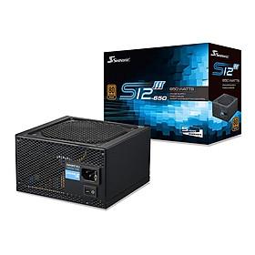 Nguồn máy tính Seasonic 650w S12III-650 (650GB3) 80 PLUS BRONZE - Hàng Chính Hãng