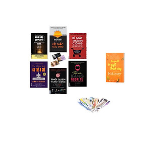 combo Bộ Sách 6 Cuốn sách :KHo Báu cuộc đời +Thôi Miền Bằng Ngôn Từ + Bí mật thành công của những người bán hàng xuất sắc + Khởi đầu muộn màng, kết thúc giàu sang + Thói quen thành công (tặng flash card nhũng câu nói hay của người nổi tiêng + cuốn mckinsey)