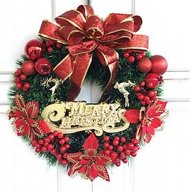 Vòng nguyệt quế đẹp nhiều chi tiết đường kính 40cm trang trí Giáng Sinh