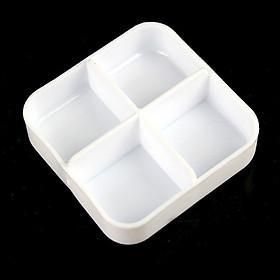 Siaonvr Square Portable Kit Mini Kit Portable Small Kit Cute Four Grid Sub Box Pill Box