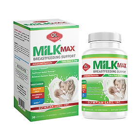 Milk max breastfeeding support viên uống lợi sữa (30 viên)
