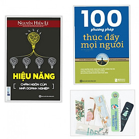 Combo hiệu năng châm ngôn của doanh nghiệm +100 phương pháp thúc đẩy mọi người (tặng kèm bookmark AHA)