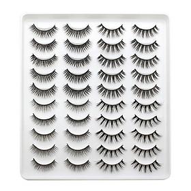 3D Fake Eyelashes 4 Styles Mixed False Eyelashes for Eye Makeup Natural Long Thick Lashes 20 Pairs